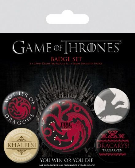 Game of Thrones Targaryen Fire and Blood Badge Pack